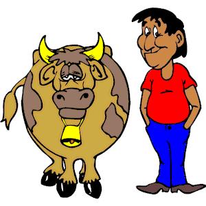 Farmer & Cow